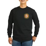 Bitcoin-8 Long Sleeve Dark T-Shirt