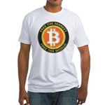 Bitcoin-8 Fitted T-Shirt