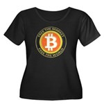Bitcoin-8 Women's Plus Size Scoop Neck Dark T-Shir