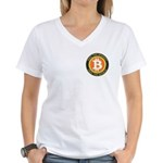 Bitcoin-8 Women's V-Neck T-Shirt