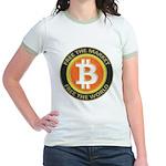 Bitcoin-8 Jr. Ringer T-Shirt