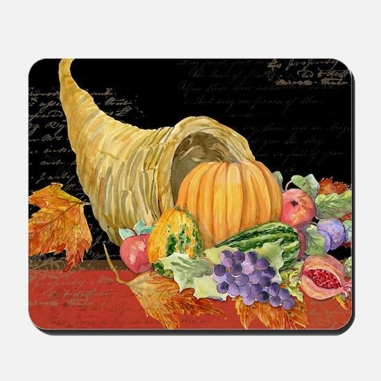 Harvest Thanksgiving Fall Cornucopia Aut Mousepad