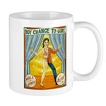 Boy change to girl circus style mug
