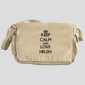 Keep Calm and Love Helen Messenger Bag