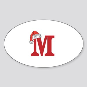 Letter M Christmas Monogram Sticker