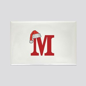 Letter M Christmas Monogram Magnets