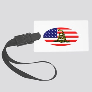Sons-of-Liberty-(oval-flag)-dark Large Luggage Tag