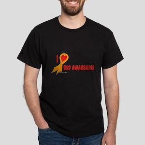 Orange I Heart/Support Rsd Awareness Dark T-Shirt