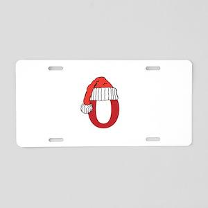 Letter O Christmas Monogram Aluminum License Plate
