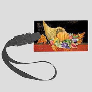 Harvest Thanksgiving Fall Cornuc Large Luggage Tag