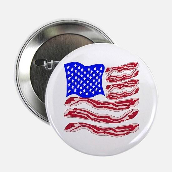 """American Bacon Flag 2.25"""" Button"""