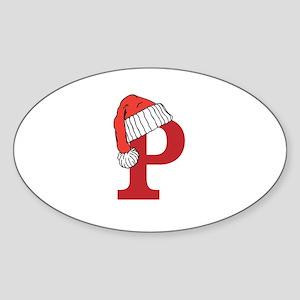 Letter P Christmas Monogram Sticker