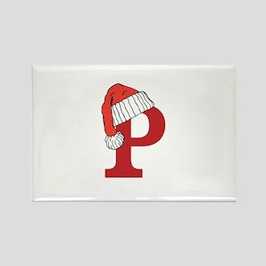 Letter P Christmas Monogram Magnets