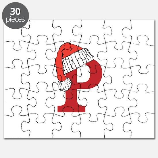 Letter P Christmas Monogram Puzzle