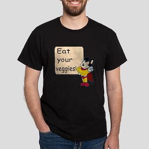 Mighty Mouse Eat Veggies Dark T-Shirt