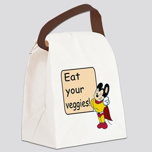Mighty Mouse Eat Veggies Canvas Lunch Bag