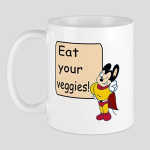 Mighty Mouse Eat Veggies Mug