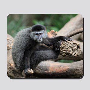 2-Blue Monkey InTree small poster Mousepad
