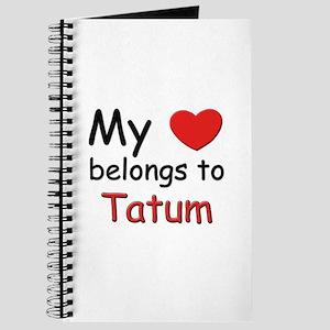 My heart belongs to tatum Journal