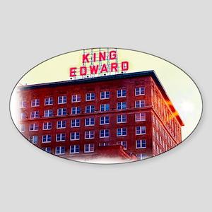 King Edward Hotel Sticker (Oval)