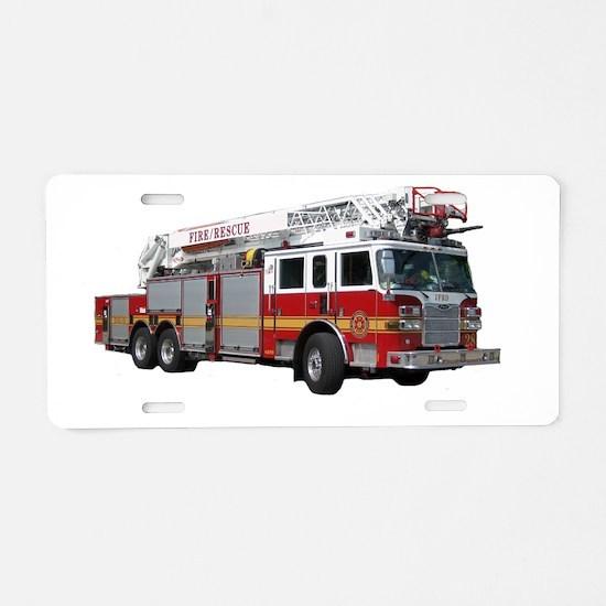 firetruck2 Aluminum License Plate