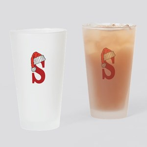 Letter S Christmas Monogram Drinking Glass