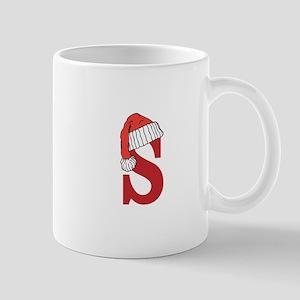 Letter S Christmas Monogram Mugs