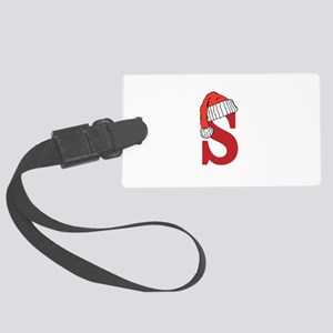 Letter S Christmas Monogram Large Luggage Tag