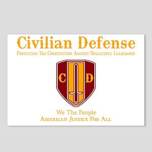 Civilian Defense Dark Postcards (Package of 8)