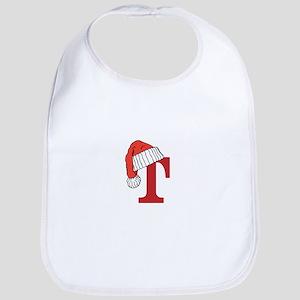 Letter T Christmas Monogram Bib
