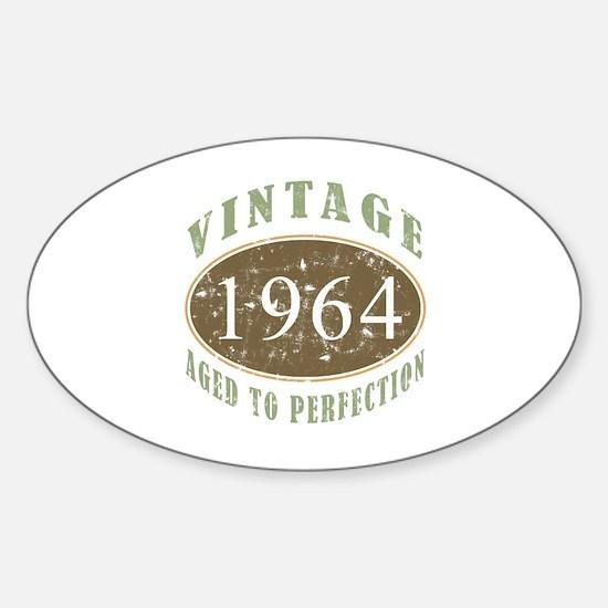 1964 Vintage Birthday Sticker (Oval)