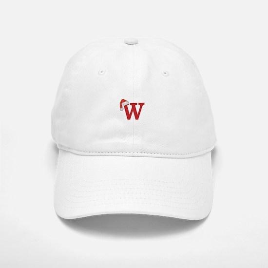 Letter W Christmas Monogram Baseball Baseball Cap