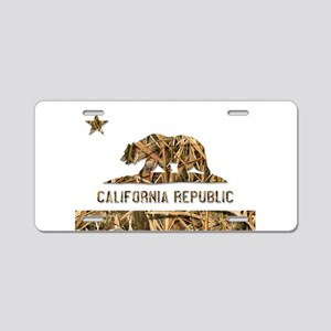 Weeds Camo California Bear Clear Aluminum License