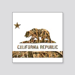 Weeds Camo California Bear Clear Sticker