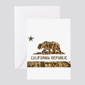 Weeds Camo California Bear Clear Greeting Cards