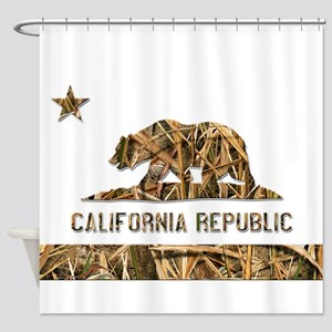 Weeds Camo California Bear Clear Shower Curtain