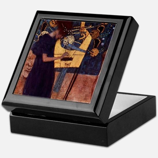 Gustav Klimt Art Keepsake Box - Music