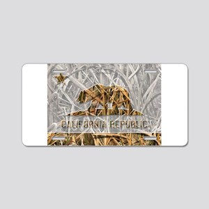 Weeds Camo California Bear 1 Aluminum License Plat