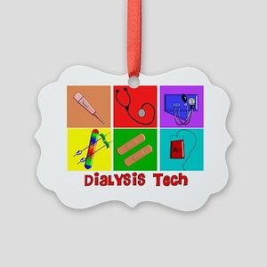 Dialysis Tech Popart Picture Ornament