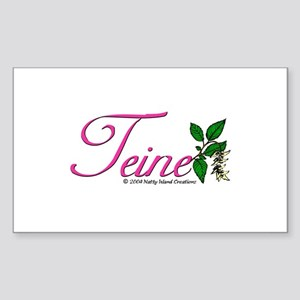 Flower Teine Rectangle Sticker