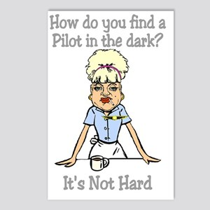 not hard for dark Postcards (Package of 8)