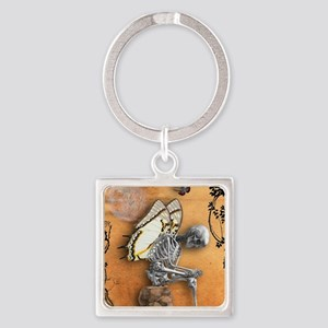 Mind the Thorns Square Keychain