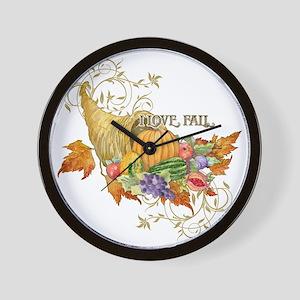 Harvest Thanksgiving Fall Cornucopia Sc Wall Clock