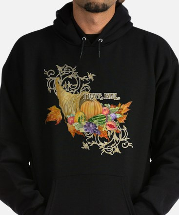 Harvest Thanksgiving Fall Cornucopia Hoodie (dark)