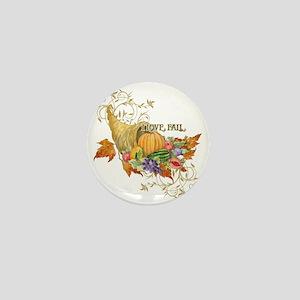 Harvest Thanksgiving Fall Cornucopia S Mini Button