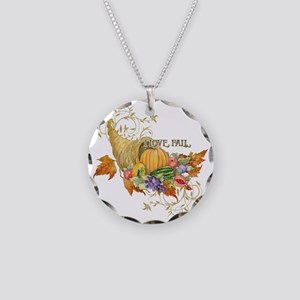 Harvest Thanksgiving Fall Co Necklace Circle Charm