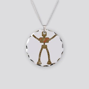 robot-final Necklace Circle Charm