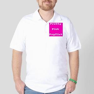 Pretty Pink Pugilist Breast Cancer Figh Golf Shirt