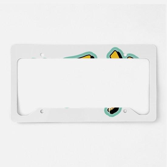 CO77X graff yellow License Plate Holder
