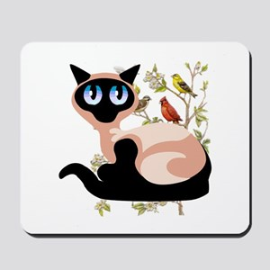 Wide Eyed Siamese Mousepad